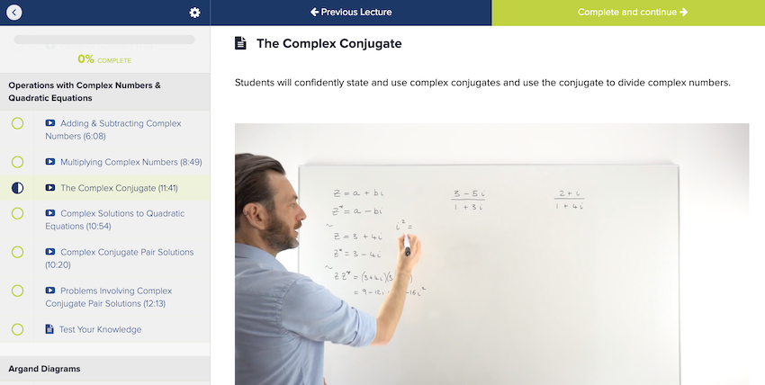 Free complex numbers class