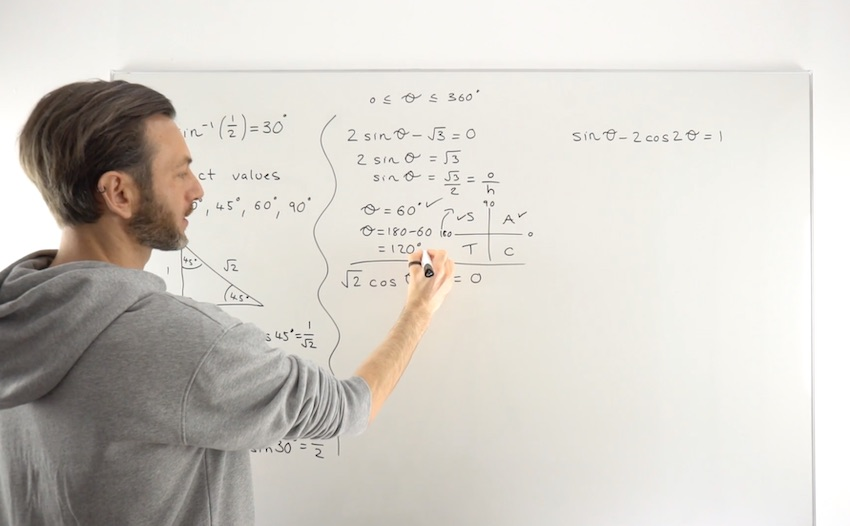 Trig Equations Exact Values