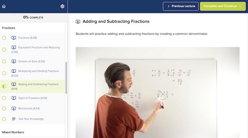 Free Pre-Algebra class